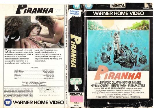 Image result for piranha 1978 vhs